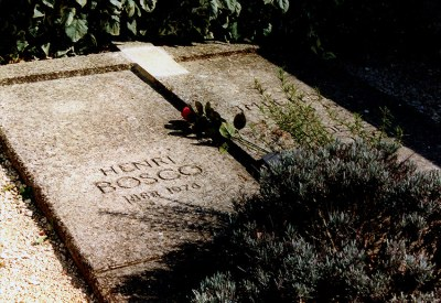 Henri Bosco grave Lourmarin