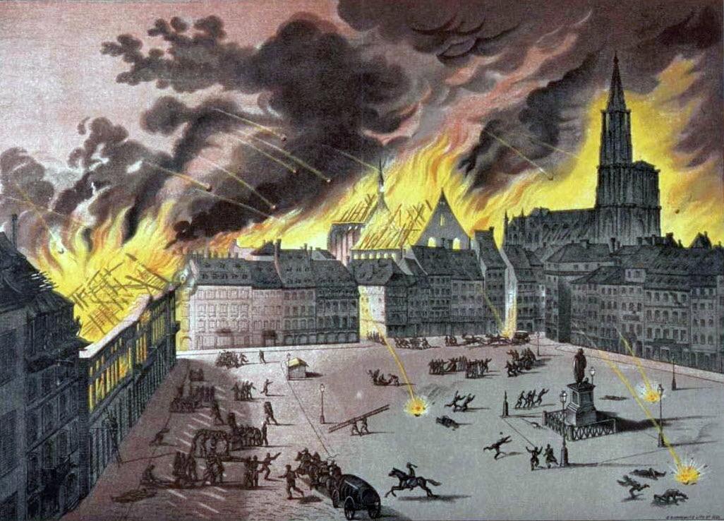 guerre de 1870 diaporama l incendie