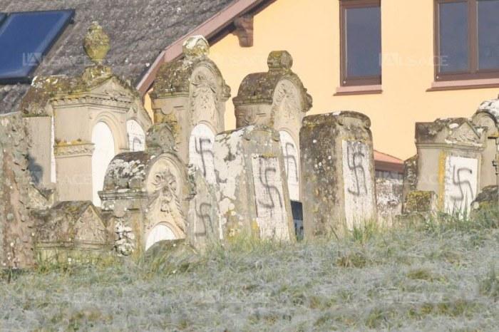 107 tombes ont été couvertes d'inscriptions antisémites. Photo DNA - Franck Delhomme