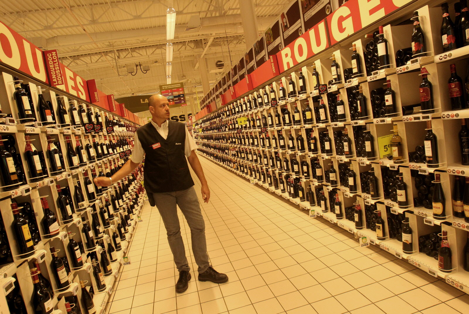 foires aux vins dans les grandes surfaces