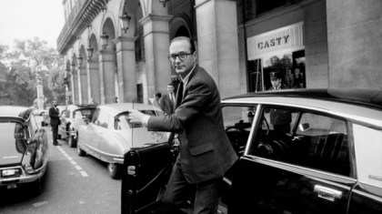 The celebrities and the automobile.  The day Jacques Chirac crossed Paris at greater than 120 km / h