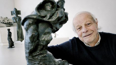 Claude Goutin leaves behind monumental works such as the statue of La Fayette in Metz.  Photo archives RL / Anthony PICORE