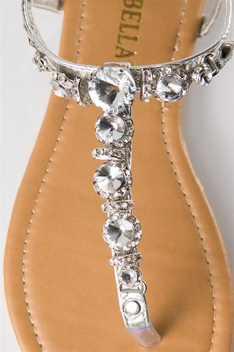 Jeweled Flat Sandals Wedding Jeweled Sandals