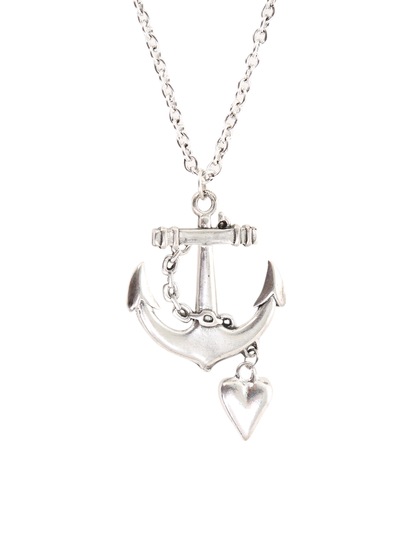 Lovesick Anchor Heart Necklace