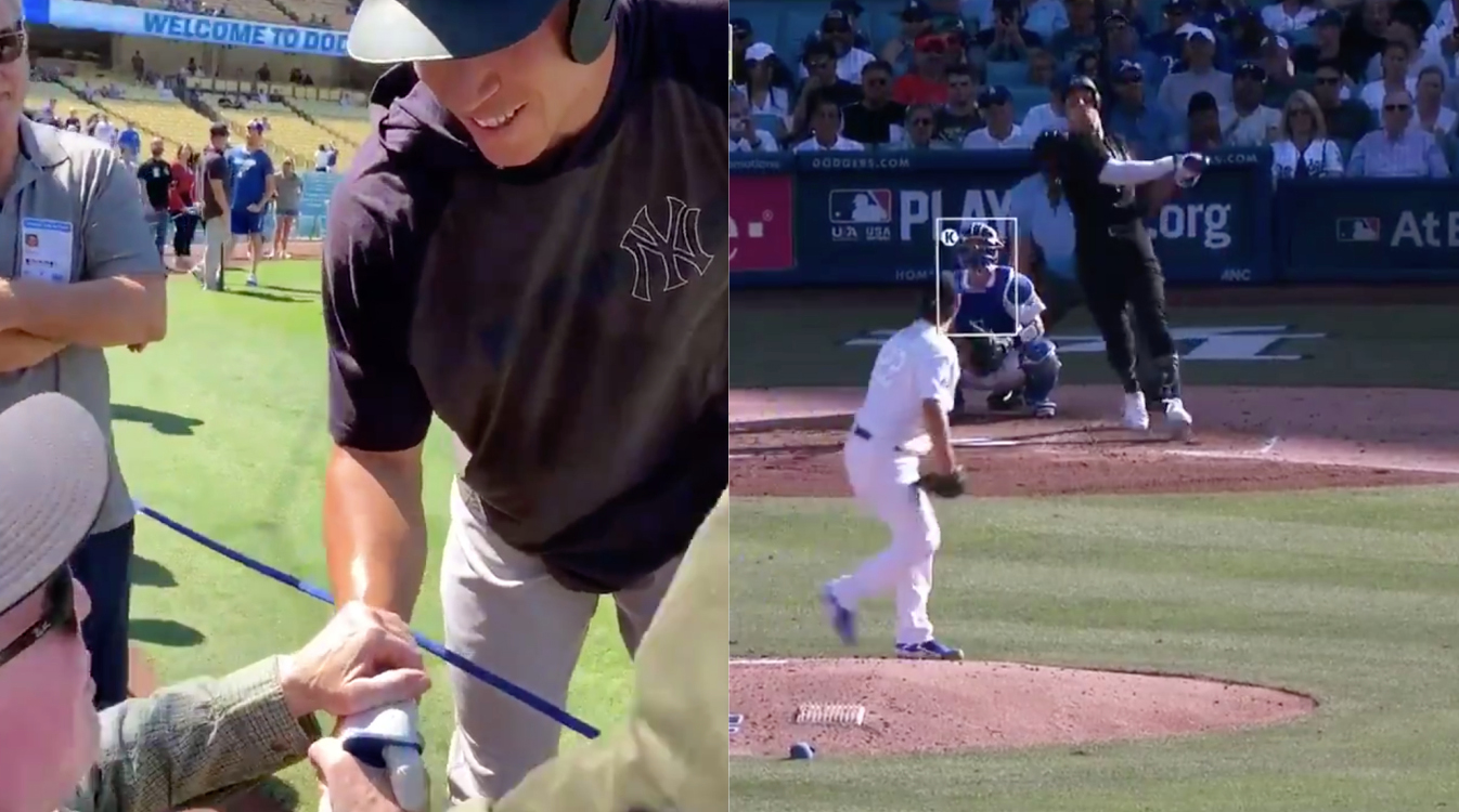 Aaron Judge Delivers vs. Dodgers After Promising to Hit a Home Run for a Fan