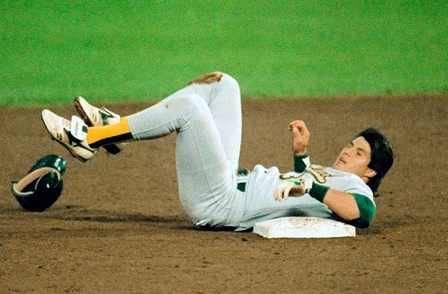 Image result for jose canseco is the first to hit 40 homer runs and steal 40 bases