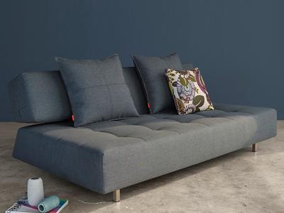 Innovation Retro Convertible Furniture  Long Horn D.E. Sofa (Basic Dark Grey)