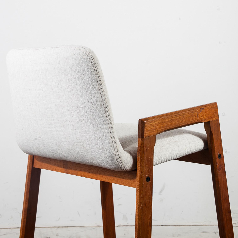 Danish Modern Teak Bar Stools Set Of 2 Vintage Mid Century Furniture Touch Of Modern