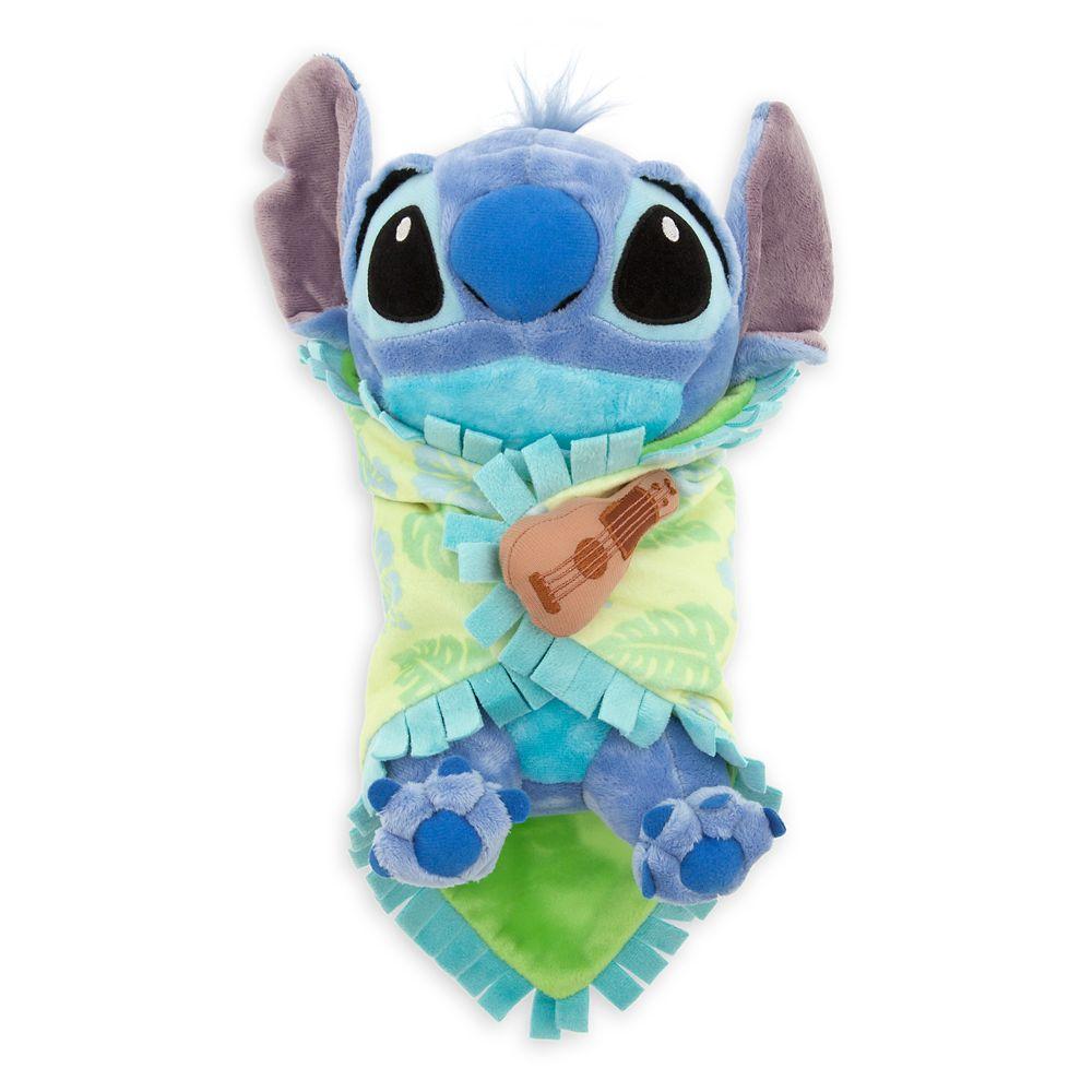 Disneys Babies Stitch Plush With Blanket Small 10