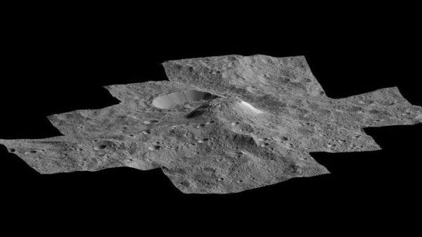 На карликовой планете Церере замечен гигантский вулкан изо ...