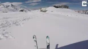 volo in sci e paracadute 4