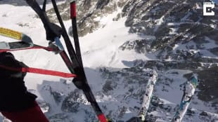 volo in sci e paracadute 5