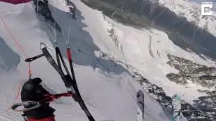 volo in sci e paracadute 7
