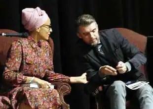 zadie smith con il marito, il poeta Nick Laird