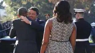 matteo renzi abbraccia barack obama