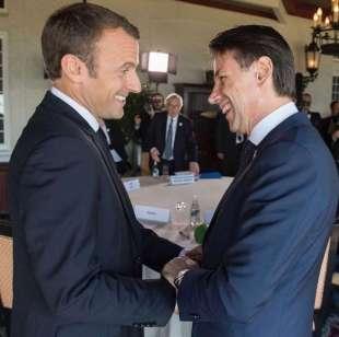 MACRON E GIUSEPPE CONTE