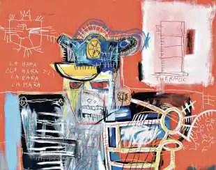 senza titolo (sceriffo) jean michel basquiat