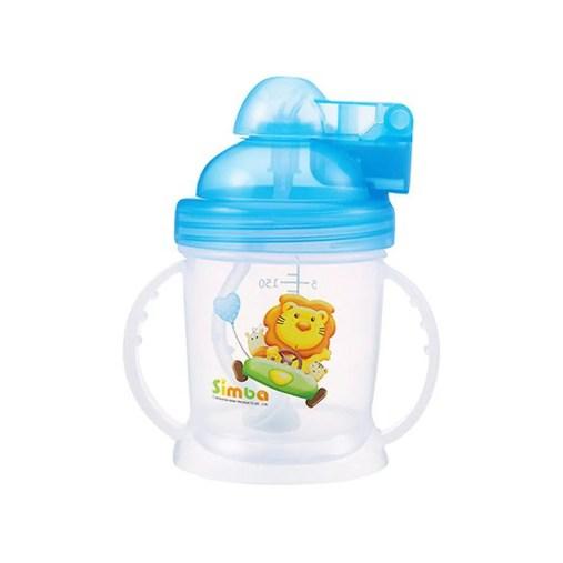 Simba 小獅王辛巴- 自動吸管練習杯-天空藍|媽咪愛