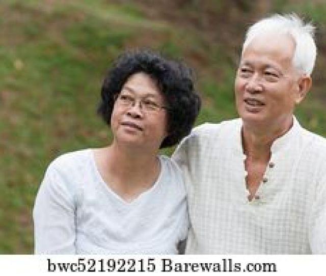 Mature Asian Couple Outdoor