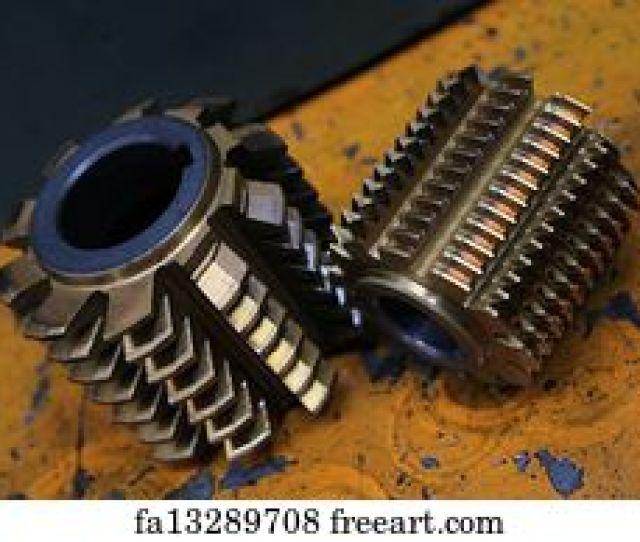 Ferr Art Print Gear Wheel