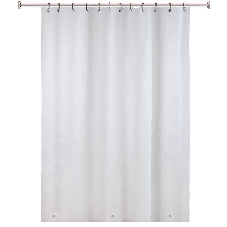 splash home 70 x72 frosty heavy duty 10 gauge eva industrial shower curtain home hardware