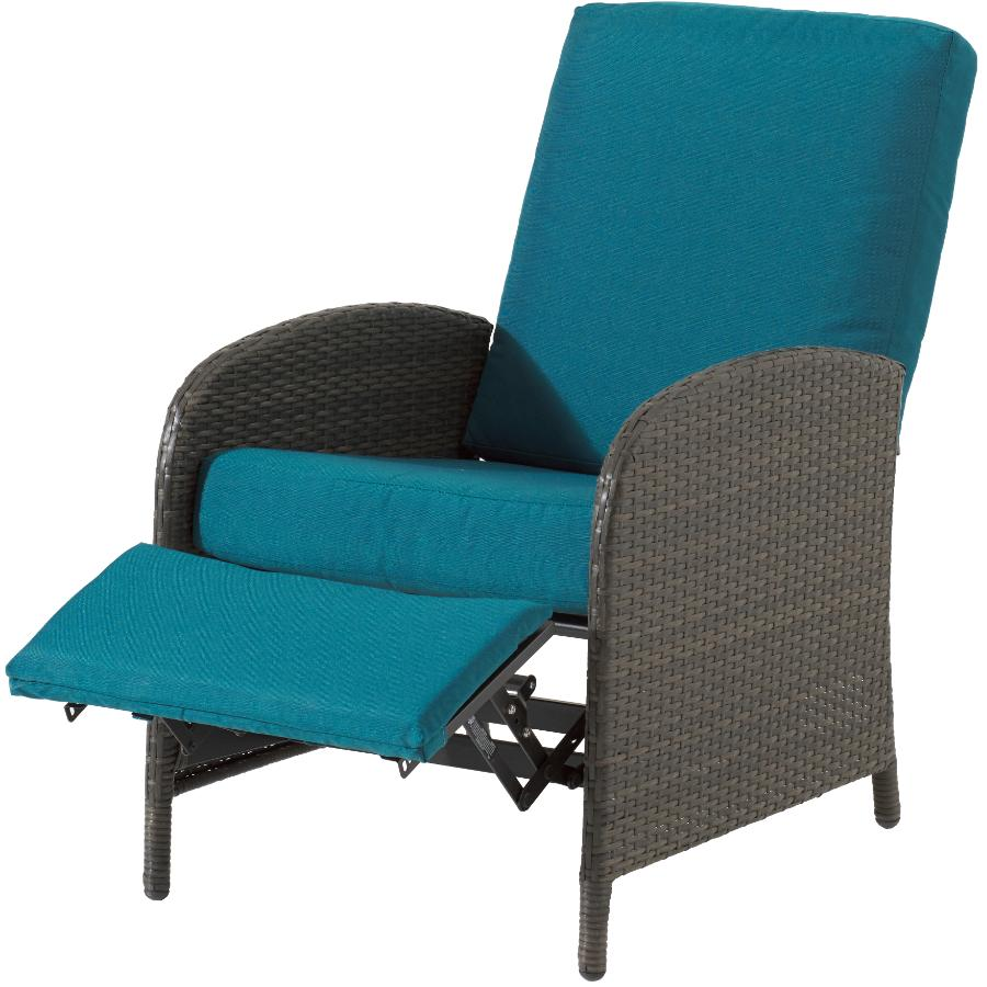 instyle outdoor athens wicker reclining chair with cushion