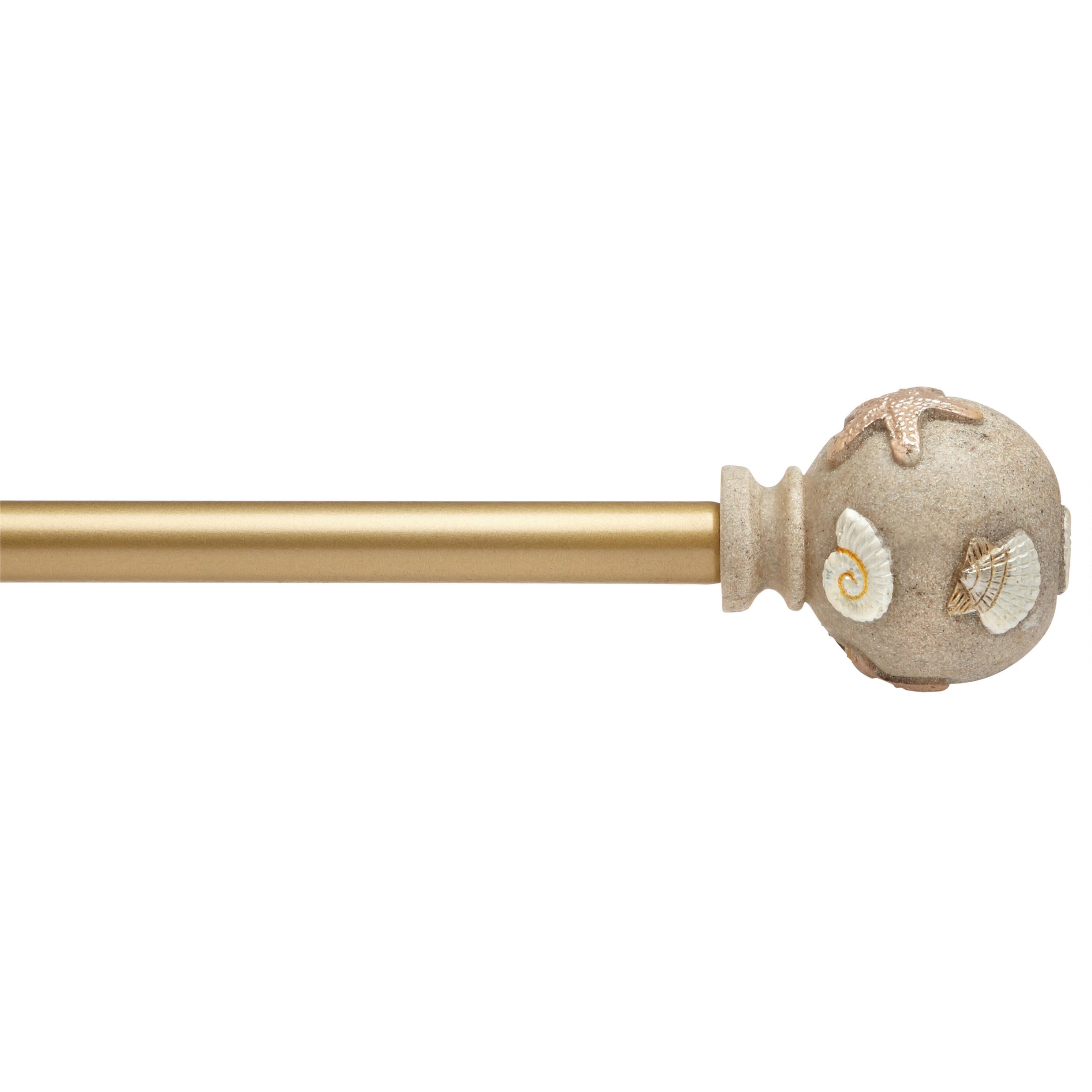 seashell globes adjustable curtain rod