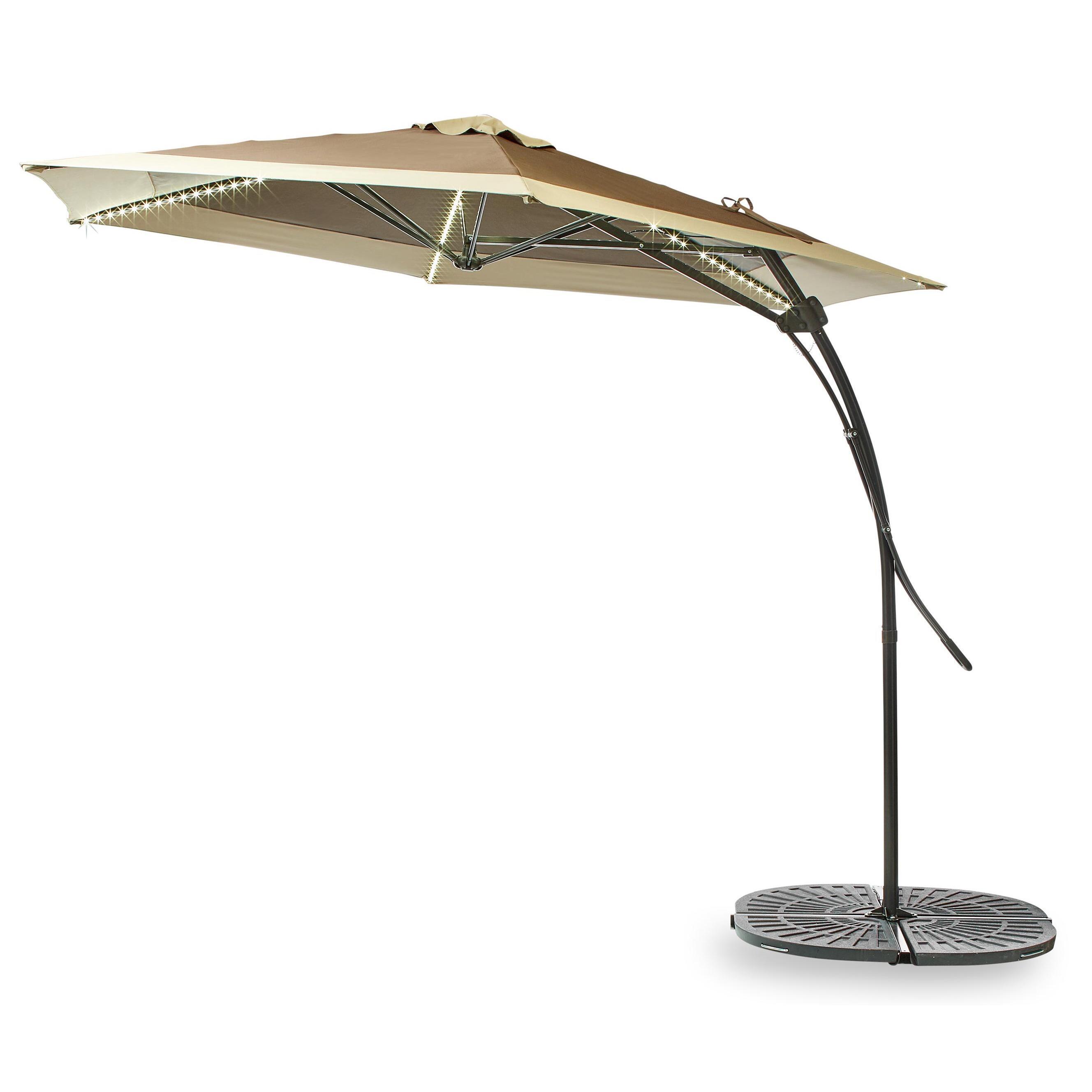10 offset led patio umbrella
