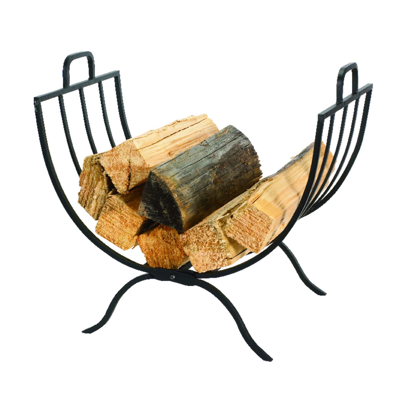 panacea black matte steel log rack