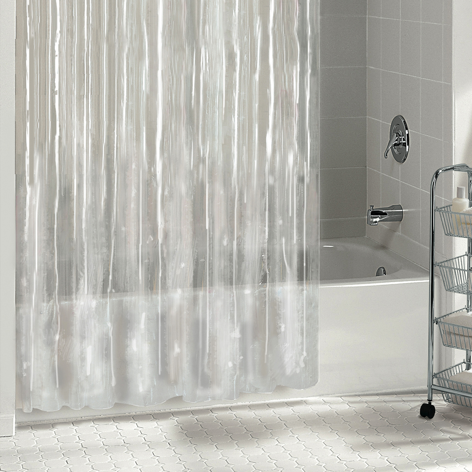 excell 70 in h x 72 in w clear solid shower curtain liner vinyl