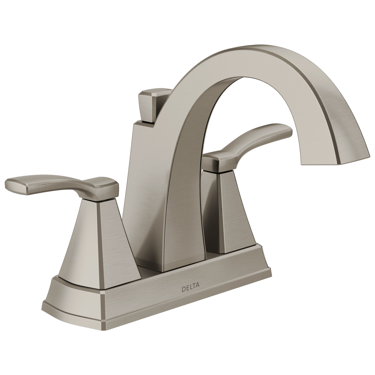 delta flynn stainless steel two handle lavatory faucet 4 in