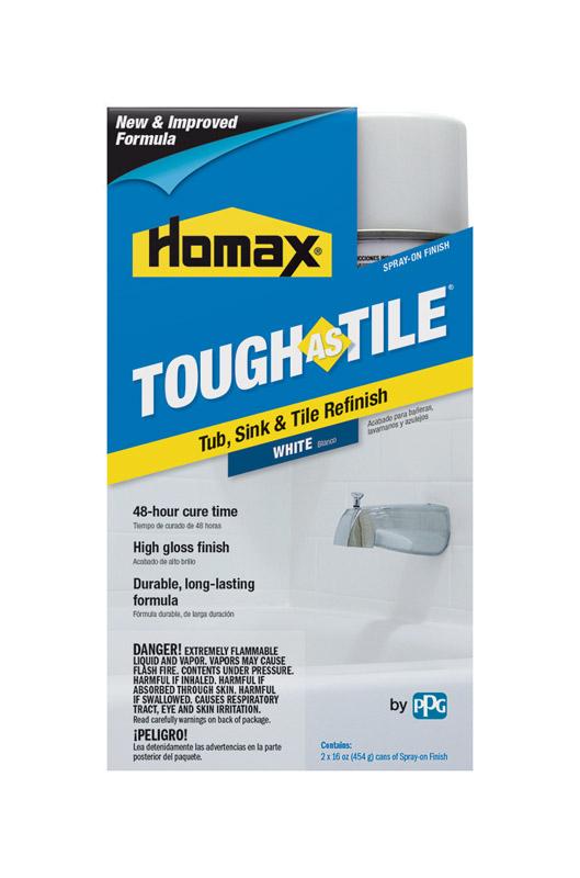 homax tough as tile gloss white bathtub and tile refinishing kit 32 oz