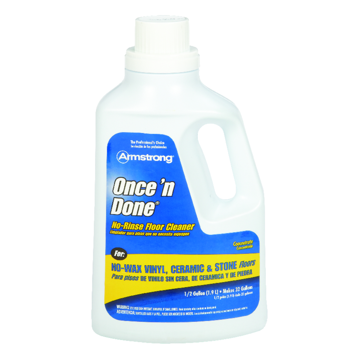 armstrong once n done citrus scent floor cleaner liquid 64 oz
