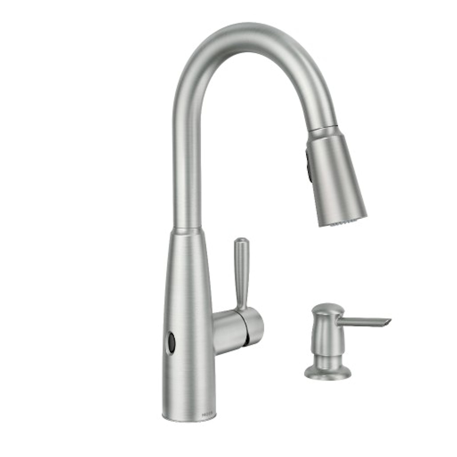moen sperry one handle stainless steel pulldown kitchen faucet with motion sensor