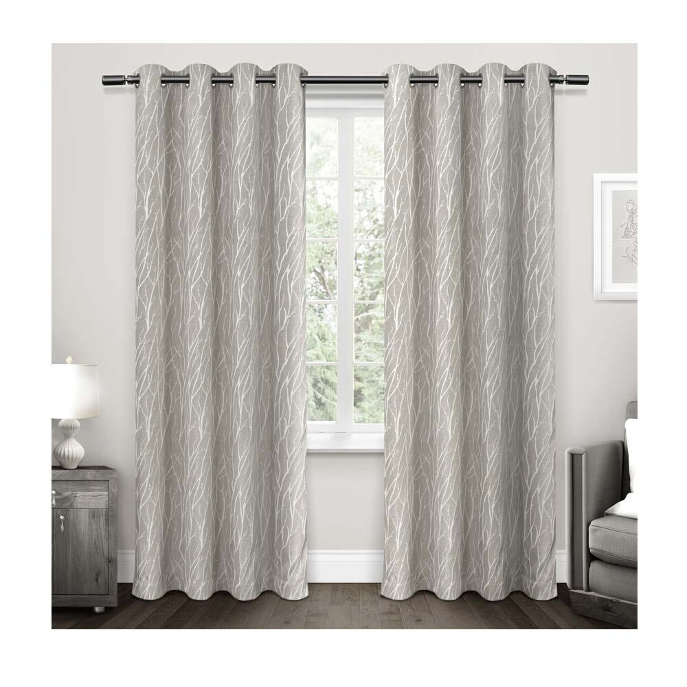 exclusive home forest hill woven curtain panels 96in