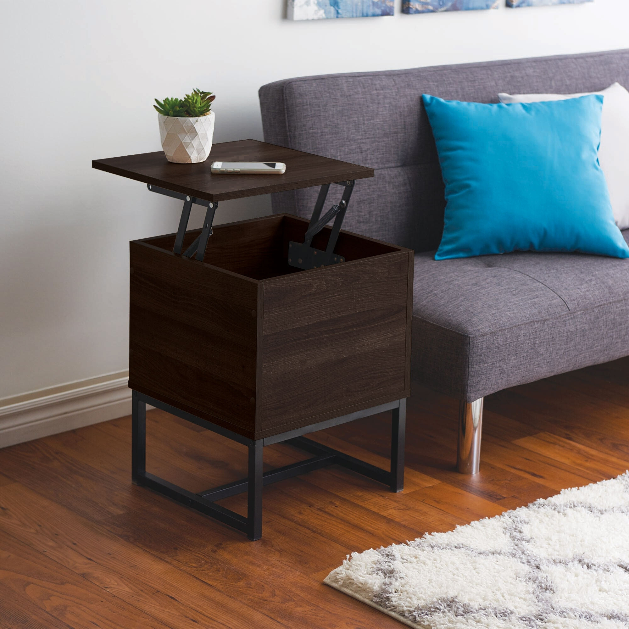 homestyles black lift top end table
