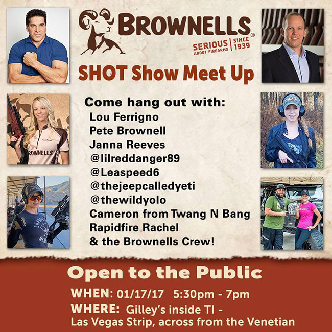 Brownells Shot Show 2017 Meet Up Flier