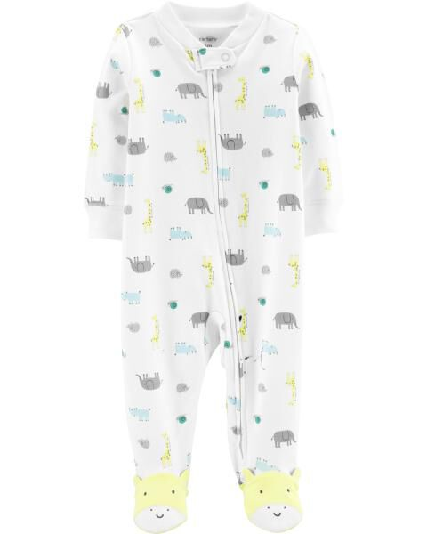Animal Zip-Up Cotton Sleep & Play