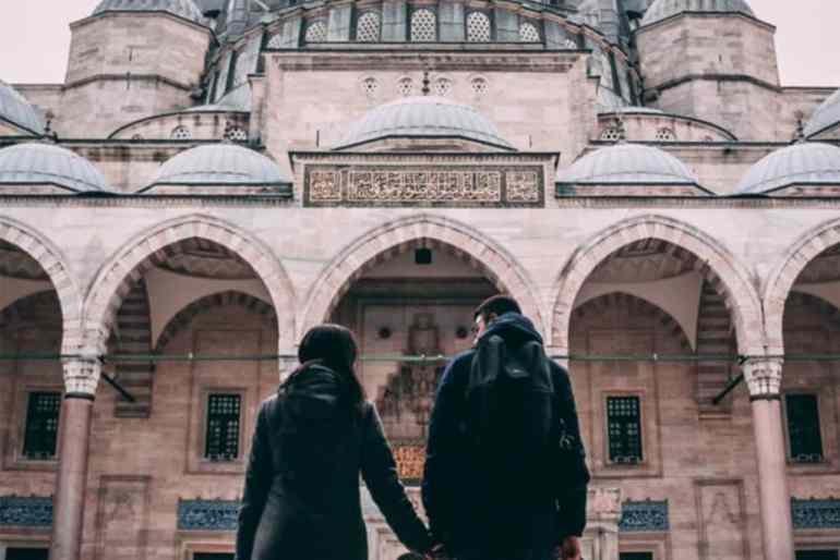 Couple in Istanbul.  Turkey.