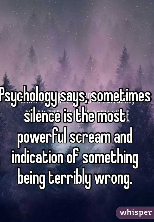Image result for silence is the most powerful scream