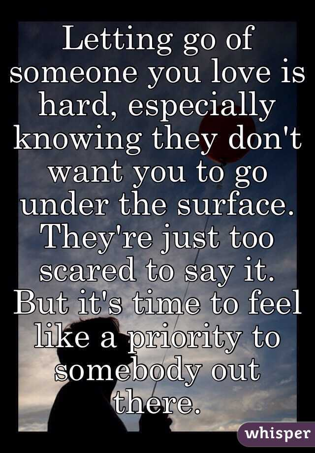 Letting go of someone you love is hard, especially knowing ...