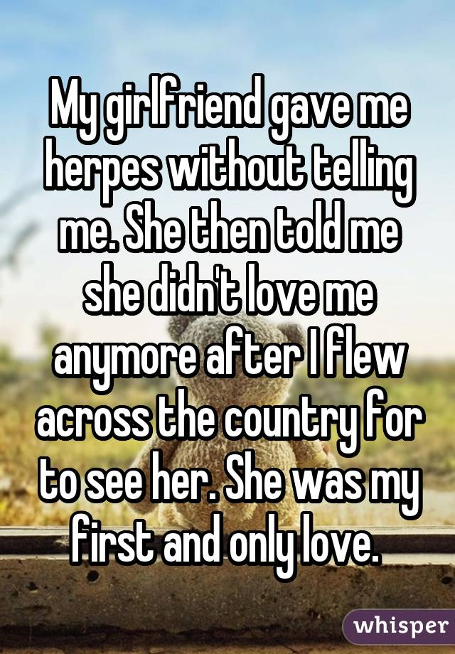 Girlfriend May Have Given Me Herpes.? 2