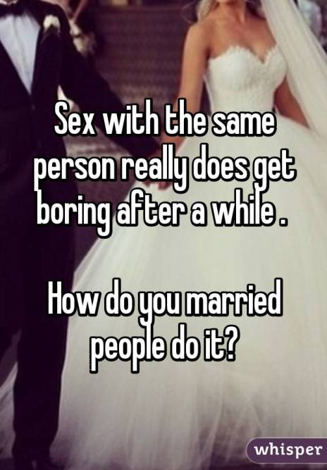 Image result for sex with the same person get boring