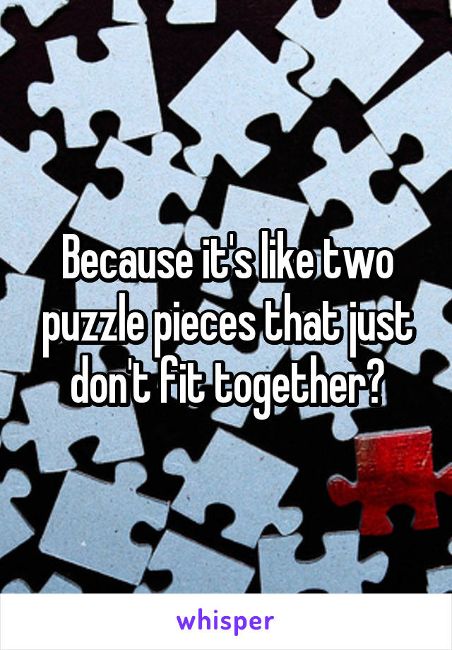 Fit Dont Puzzle Pieces