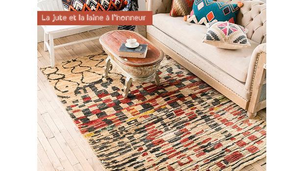 tapis trendy en fibres naturelles