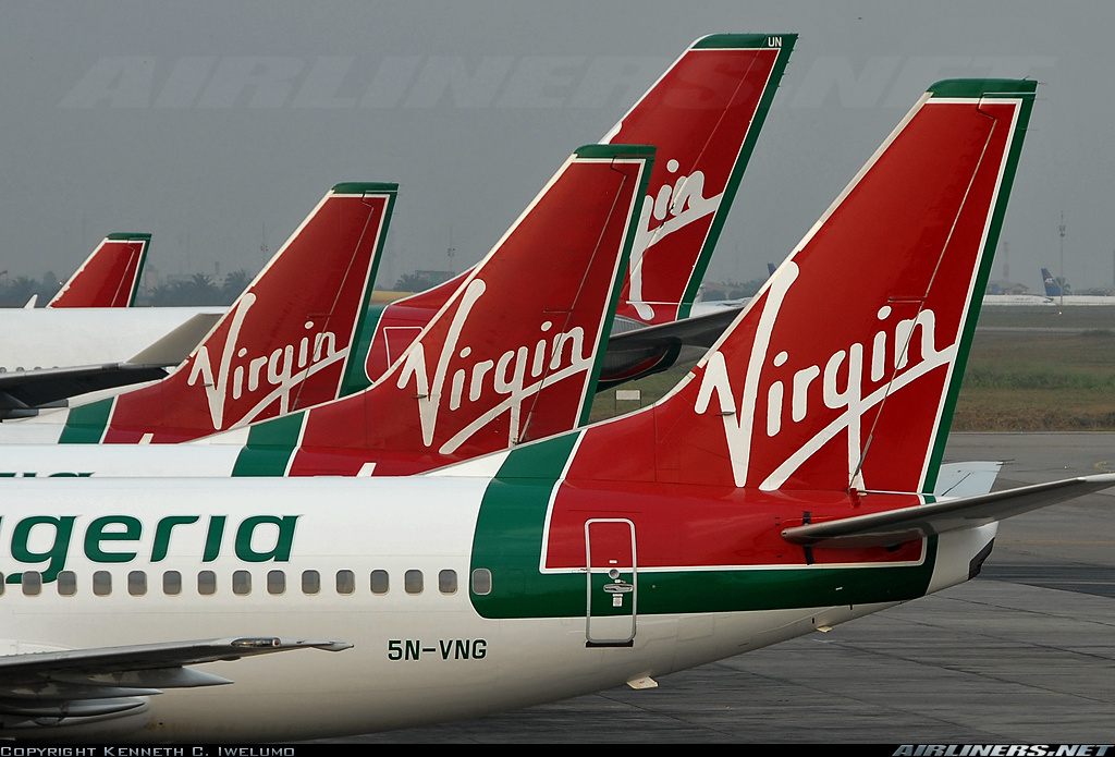 Virgin Nigeria's fleet at Lagos Airport (copyright Ken Iwelumo)