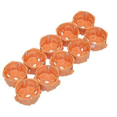 capri capriclips lot de 10 boites encastrement simples pour cloison seche d67 p40 cap036819