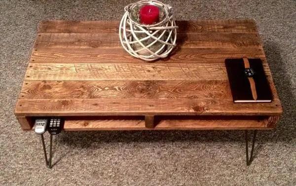 diy rustic pallet coffee table tv