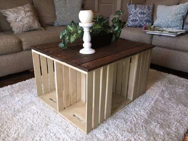 diy pallet and crate coffee table 101