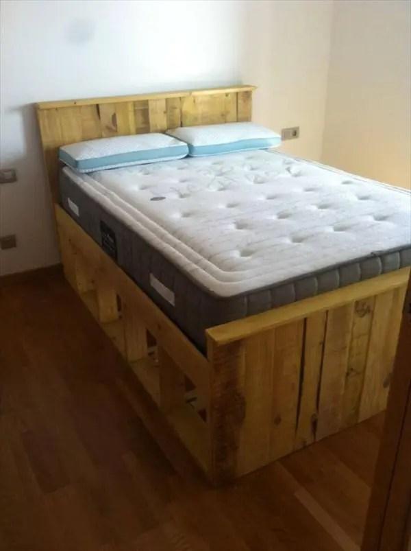 Pallets Wood Bed Frame 101 Pallets